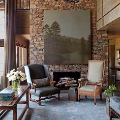 #интерьер #стул #цветы #камень #консоль #дизайн #декор #камин #картина #шторы #окно #interior #style #stone #chair #window #decor #design #fireplace