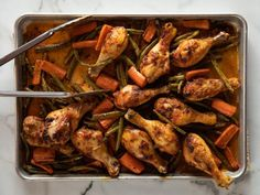 Sheet Pan Curried Chicken Recipe from Food Network/Pioneer Woman (watch how . Get Sheet Pan Curried Chicken Recipe from Food Network/Pioneer Woman (watch how . Kfc, Food Network Recipes, Cooking Recipes, Pan Cooking, Oven Recipes, Meal Recipes, Sheet Pan Suppers, Sesame, One Pan Meals