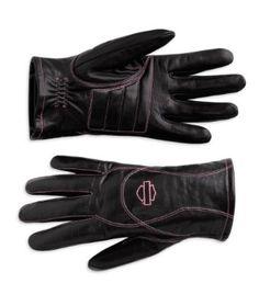 pink label gloves, harley davidson gloves  motorcycleline.com