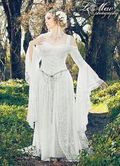 Lady Gwen Lace Up Fantasy Mittelalter samt und Spitze Kleid Custom