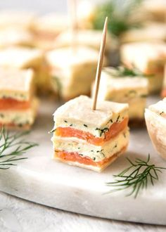 This smoked salmon appetizer ticks all my boxes for finger food: it's fast to make loads (no fiddly assembly), it's served at room temperature and can be made ahead.