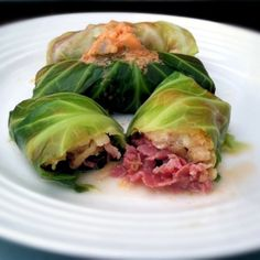 Celebrate Saint Patrick's Day with some corned beef in cabbage rolls! These taste just like a Reuben sandwich!
