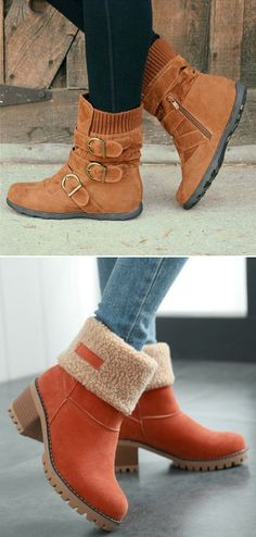 Hot sale of snow boots! Buy now! Must have one for this chilly winter. Snow Boots Women, Ladies Boots, Cute Boots, Winter Shoes, Shoe Closet, Mode Style, Me Too Shoes, Drew Shoes, Bootie Boots