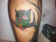 Zombie owl tattoo Tattoo Inspiration, Body Art, Owl, Skull, Inspired, Tattoos, Tatuajes, Owls, Tattoo