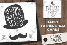 Father's Day Posters & Cards Set by Le Chernina on @creativemarket