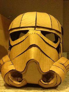 Image of Cardboard Stormtrooper Helmet DIY Cardboard Cardboard Costume, Cardboard Mask, Cardboard Sculpture, Cardboard Paper, Cardboard Crafts, Storm Trooper Costume, Star Wars Crafts, Star Wars Costumes, Cosplay Diy