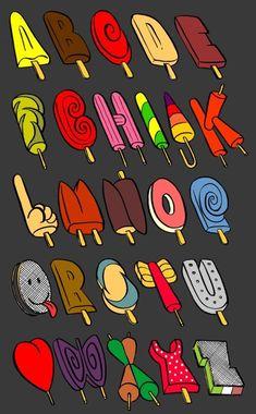 Agatha Heeren lollipop font - from Pinterest