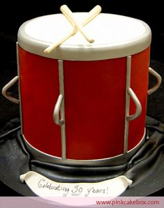 Drum Cake | http://blog.pinkcakebox.com/drum-cake-2009-12-22.htm