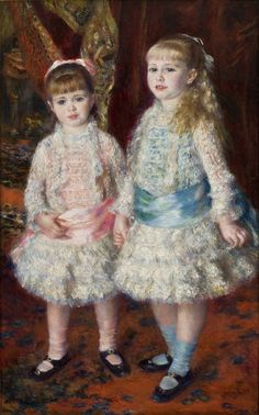 Pierre-Auguste Renoir. Rosa e Azul (As Meninas Cahen d´Anvers), 1881. MASP