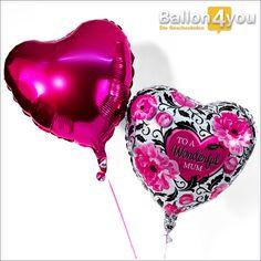 """To a wonderful Mom - Ballonbukett     Pink is beautiful! Bekennen Sie Farbe und überraschen mit eines unserer zauberhaftesten Ballonbuketts. Verziert mit pinkfarbenen Blüten unter der Aufschrift """"To a wonderful Mum"""" passt dieses perfekt zum Muttertag, oder als Dankeschön zu weiteren Anlässen."""
