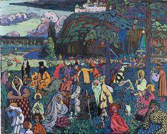 Wassily KANDINSKY (Russisch kunstschilder, 1866–1944): Het bonte leven, tempera op doek, 1907