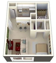 Small Apartment Plan 20 one bedroom apartment plans for singles and couples | bedroom