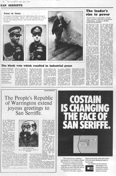 """On April 1, 1977 the British newspaper The Guardian published a seven-page """"special report"""" about San Serriffe, a small republic located in the Indian Ocean consisting of several semi-colon-shaped islands. A series of articles described the geography and culture of this obscure nation."""