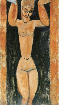 Amedeo Modigliani - Caryatid Aichi Prefectural Museum of Art, Nagoya, Japan Oil on canvas Amedeo Modigliani, Edgar Degas, Klimt, Paris, Ernst Ludwig Kirchner, Poster Prints, Art Prints, Italian Painters, Art Moderne