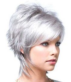 Cute Short Hairstyle with Grey Color                                                                                                                                                                                 More