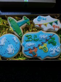 New baby boy sugar cookies.