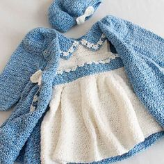 Ravelry: Bon Bon Dress & Jacket Set pattern by Maggie Weldon.