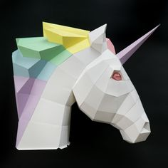 DIY Papercraft Unicorn with Oxygami | Karen Kavett
