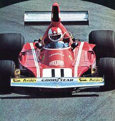 """frenchcurious: """"Clay Regazzoni (Ferrari) Grand Prix de Monaco 1974 - alpha auto c.1976 """""""