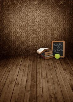 >> Click to Buy << Custom vinyl print cloth brown background books photography backdrops for school photo studio portrait backgrounds props S-923 #Affiliate