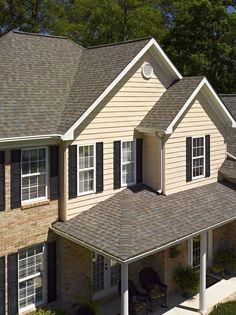Best Certainteed Landmark Driftwood Shingle House Exterior 400 x 300