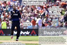 ICC WORLD cUP 2015:  New Zealand v Afghanistan, World Cup 2015, Group A, Napier, March 8, 2015  Vettori, Guptill topple Afghanistan  Vettori seals fifth straight NZ win