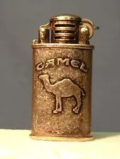 ADVERTISING CAMEL CIGARETTE WIND PROOF PEWTER REFILLABLE LIGHTER-TOBACCO