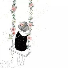 Flowers Ilustrations Girl 28 Super Ideas Susanne Kuhlmann: After the successful referendum to save Illustrations, Hand Illustration, Cute Drawings, Drawing Sketches, Cartoon Wallpaper, Anime Art Girl, Doodle Art, Cartoon Art, Cute Wallpapers