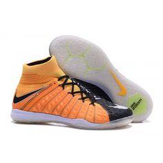 new style a756f 16c8f Botas De Futbol Sala Nike Hypervenom Phantom III DF IC Naranjas Negras  Baratas