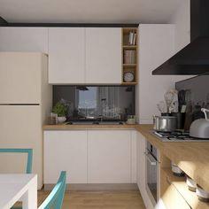 Amenajare bucatarie in stil scandinav - ArtDecor House Art Decor, Home Decor, Minimalism, Ikea, Kitchen Cabinets, Table, House, Furniture, Design