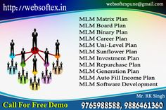 Websoftex Software Solutions pvt. ltd. is used by more than 200 mlm companies across the nation. It has employed 225 engineers for their support round-the-clock. This software has been developed to its present state by years of research and trial-and-error process. For more detail log on to: http://websoftex.in/mlm_software.php