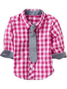 64b2f658b2 Gingham Shirt. In search of interesting fabrics that boys can wear.  Vestimenta De Niños