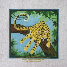 Leopard handprint art
