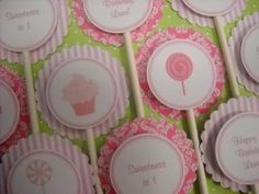 Cupcake Toppers  Pretty in Pink Collection  by ALittleLollipopTree, $9.00