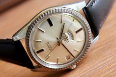 SWISS WATCH Nivor AUTOMATIC-All Stainless Steel, Men's Vintage Watch 25jewels-, Wrist Watch-1960's, Mechanical watch, Vintage watch