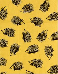てぬぐい - (はりねずみ)黄 Conversational Prints, Kids Zone, Marimekko, Cat Drawing, Stuffed Animal Patterns, Color Patterns, Hedgehog, Floral Prints, Converted Garage
