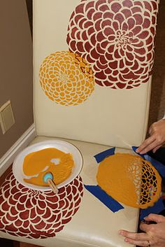 Great idea for adding a personal touch to your home. I have these in our bathroom!! Yellow and Grey