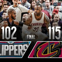 LeBron James leads the Cavs with a double double to the home win over Chris Paul and the Clippers in Cleveland.