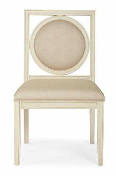 341-561 Salon Side Chair   Bernhardt W 22.5 D 26 H 38 SH 19 SD 19 $480 For other Fabrics $695 #Under1K #OpenBack