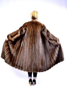 100 Real Russian Silver Sable Fur Coat Sobol Barguzin Kronen Zobel Mantel | eBay