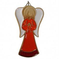 "Ceramic angel ornament handmade by artist 4"""