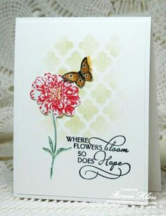 Field Flowers of Hope by bon2stamp - Cards and Paper Crafts at Splitcoaststampers