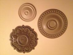 Ceiling Medallion Wall Art ceiling medallion wall art for bedroom makeover | wall art bedroom