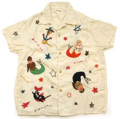 KAPITAL (キャピタル) Mermaid Embroidered Shirt