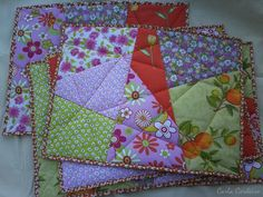 placemats stack and whack | Stack-and-Whack placemat | Quilting