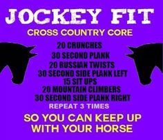 Equestrian #workout for your #core to help you maintain your #endurance on the…