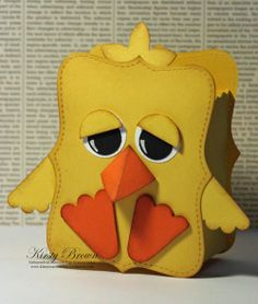 Chick by Kirsty Brown. Easter card. Use the Top Note die & punches.