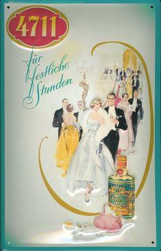 Blechschild 4711 Für festliche Stunden Kosmetik Parfum kölnisch Wasser Schild Werbeschild -