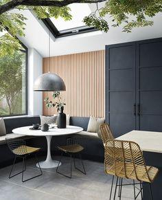 Interior Design Inspiration, Home Interior Design, Interior Architecture, Interior Ideas, Design Ideas, Kitchen Family Rooms, Home Decor Kitchen, Kitchen Ideas, Dining Nook