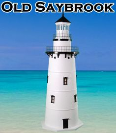 Old Saybrook Deluxe Stucco Lawn Lighthouses